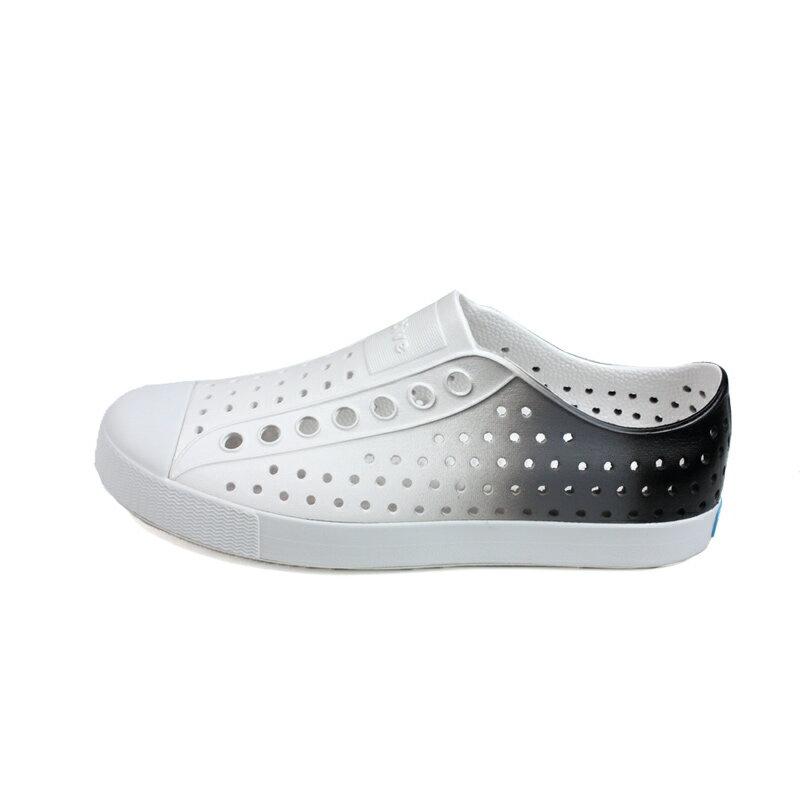 native JEFFERSON OMBRE 懶人鞋 洞洞鞋 白 / 灰 漸層 男女鞋 11100147-1958 no978 6