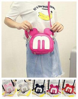 可愛米奇包包單肩斜跨簡約小包迷你包