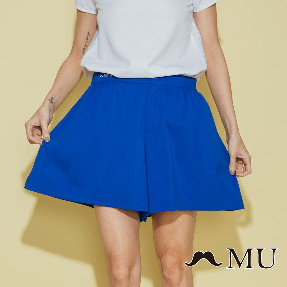 【MU】腰部LOGO刺繡刺繡短寬褲  7325162 2