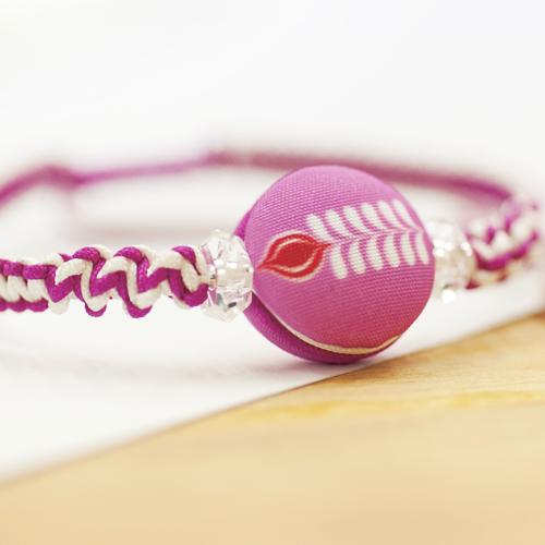 羽毛尊貴之珠單線手環