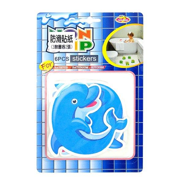 【888便利購】海豚地板防滑貼紙(1組6張)