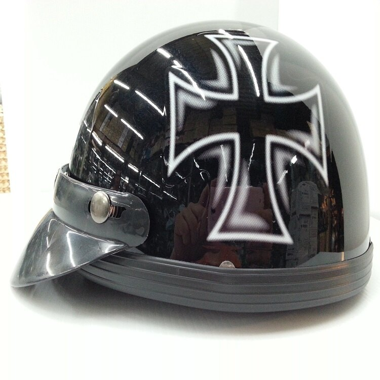 ~小騎士~GT~R 十字架 半罩式安全帽  西瓜帽