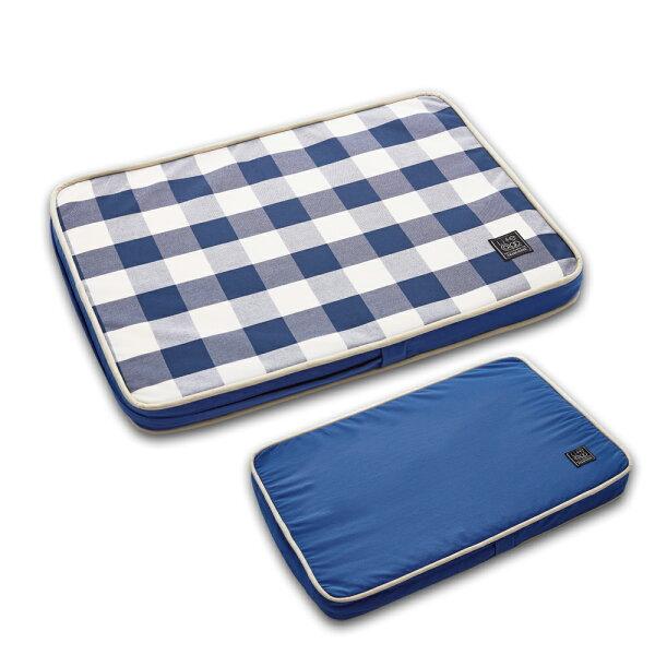 Lifeapp:《Lifeapp》寵物緩壓睡墊S(藍白格)W65xD45xH5cm
