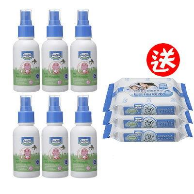 【悅兒樂婦幼用品?】Baan 貝恩 防蚊噴液100ml【買6罐送貝恩EDI嬰兒保養柔濕巾20抽(3包入)一串】
