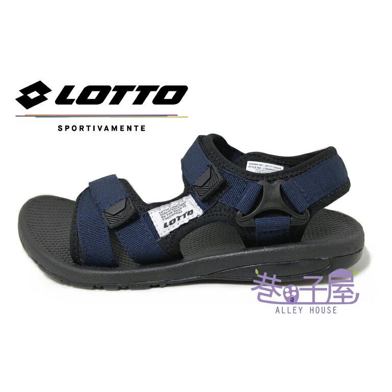 【滿千領券再折$120】LOTTO樂得-義大利第一品牌 男款流行Q彈織帶涼鞋 [6136] 藍【巷子屋】