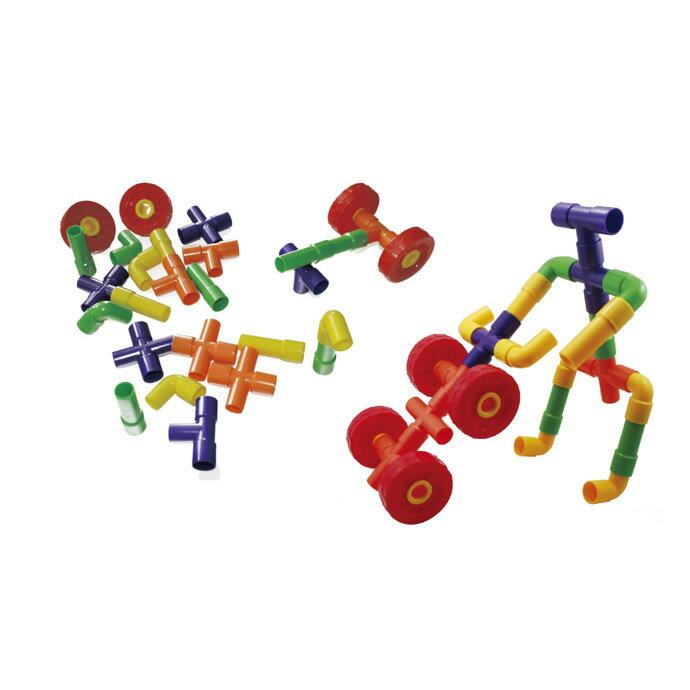 【華森葳兒童教玩具】建構積木系列-輪子水管 E10-B59