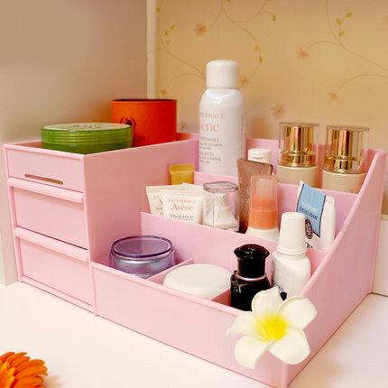 PS Mall 韓國抽屜式化妝品收納盒 桌面收納盒 小物收納架~J2403~