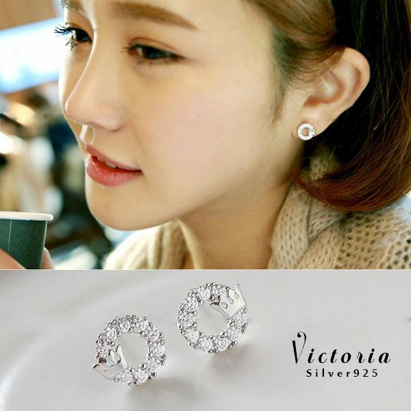 Victoria:S925純銀優雅性感耳環-維多利亞160414