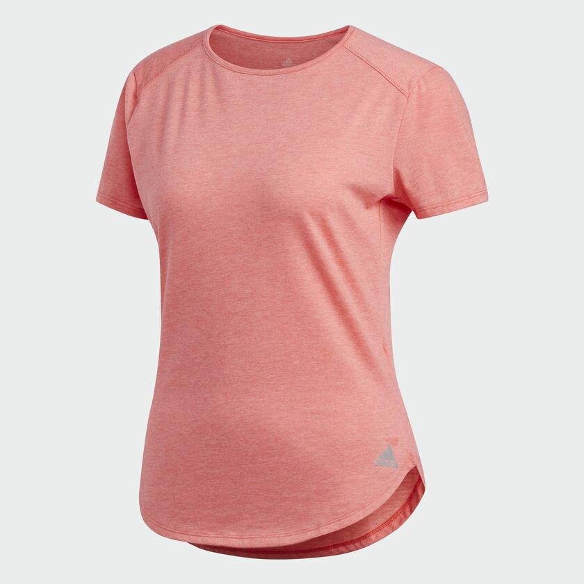 《限時特價↘7折免運》ADIDAS Response Soft Tee 女裝 上衣 短袖 慢跑 排汗 透氣 粉【運動世界】CF2126