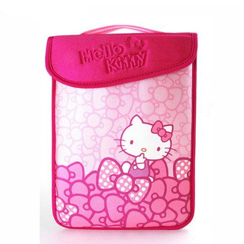 【真愛日本】15082600010 平板電腦保護袋10.1吋-蝴蝶結 三麗鷗 kitty 保護套 保護殼 電腦配件