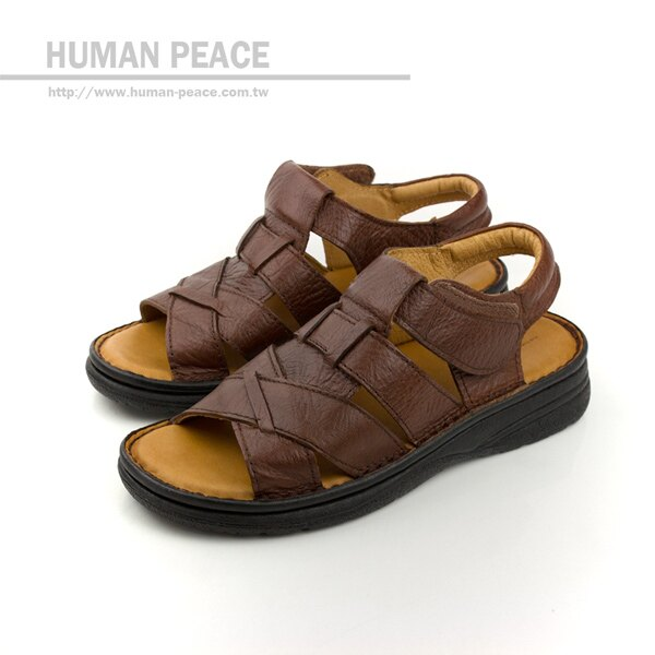 HUMAN PEACE 涼鞋 咖啡色 男鞋 no044