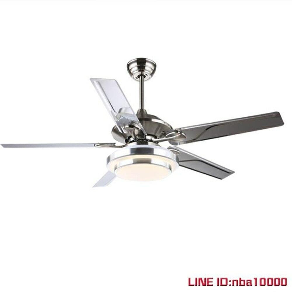 吊傘燈森林風110V台灣遙控吊扇燈LED Morden ceiling fan餐廳燈扇電風扇JD CY潮流站 2