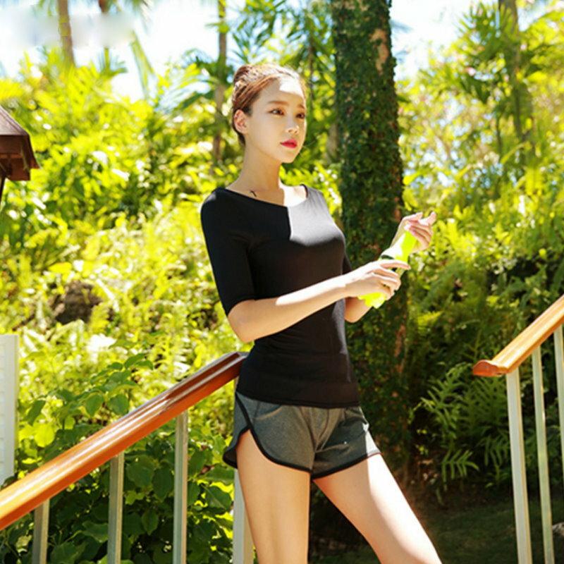 運動瑜珈健身排汗圓領T恤上衣S~L【紐約七號】S1-001