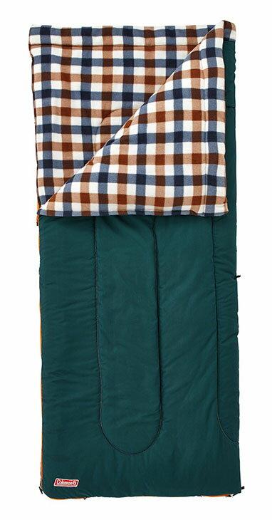 ├登山樂┤美國 Coleman 刷毛睡袋/C5 棕格紋 #CM-26650M