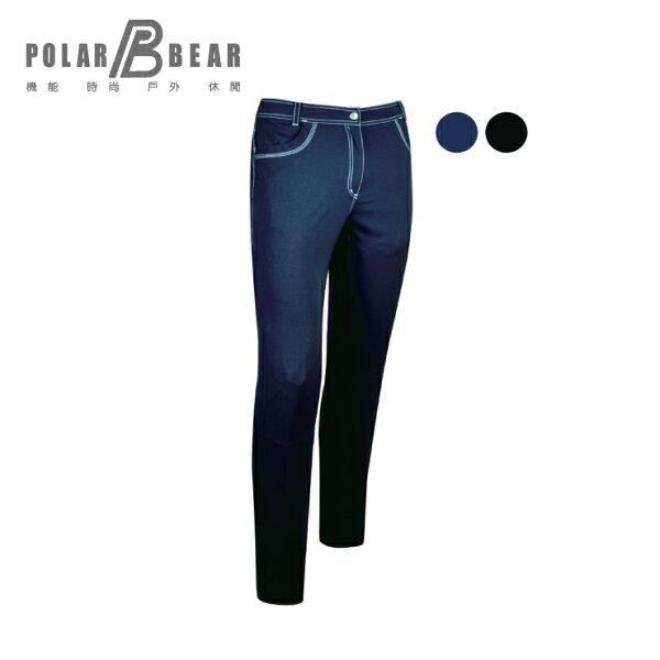 【POLARBEAR】女輕薄抗UV吸濕排汗彈性直筒長褲