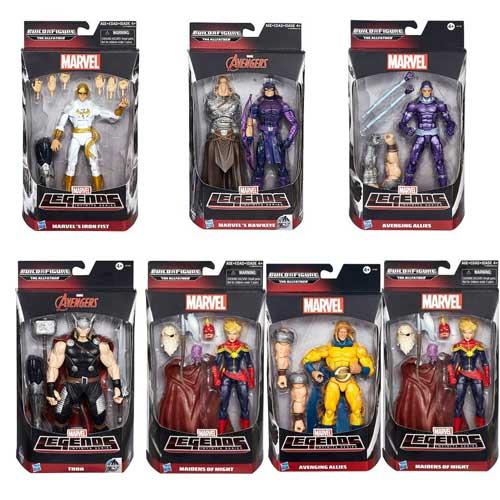 【Playwoods】[復仇者聯盟2:奧創紀元] Marvel's Legends 6吋收藏人物系列七隻全組(可組奧丁):驚奇女士/鐵拳俠/緋紅女巫/索爾/鷹眼/哨兵/機械俠 (孩之寶/驚奇漫畫/Avengers: Age of Ultron/漫威Marvel/超級英雄)