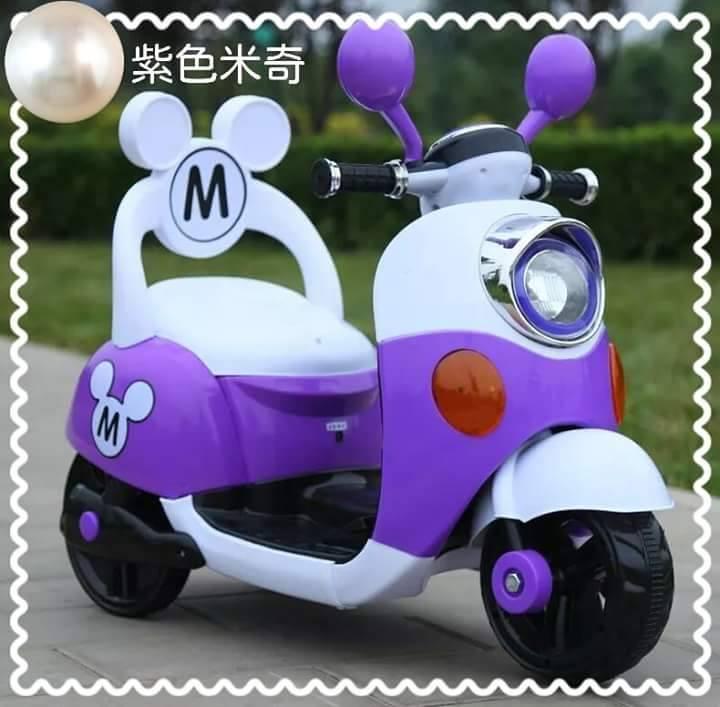 米奇靠背電動車 / 機車  紫色款