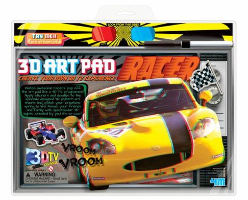 【4M 創意 DIY】3D Art Pad Racer 3D賽車藝術畫版