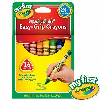 『121婦嬰用品』美國crayola 繪兒樂 幼兒可水洗三角蠟筆/16色