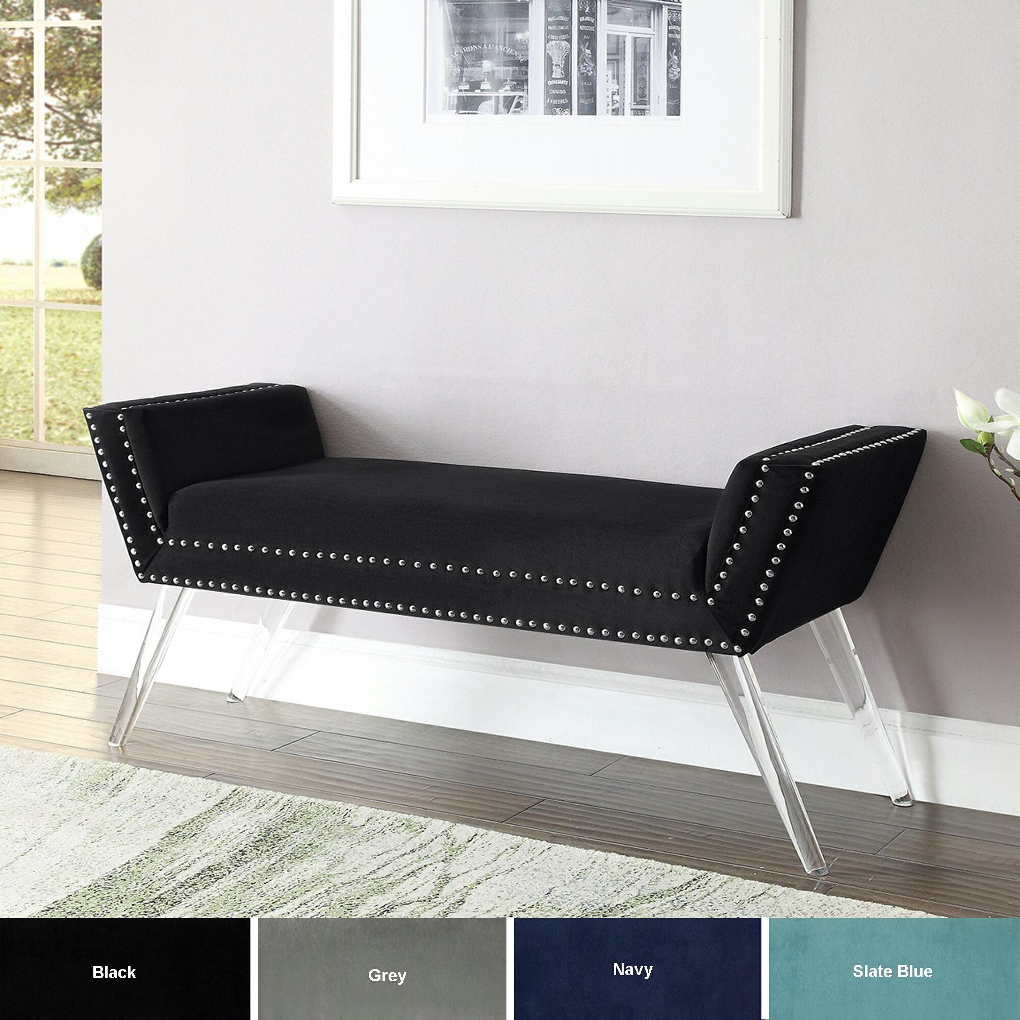 Harlow Velvet Upholstered Bench