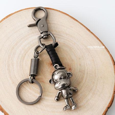 腰鍊褲鍊鑰匙圈立體酷酷猴子造型柒彩年代【NF75】腰間吊飾