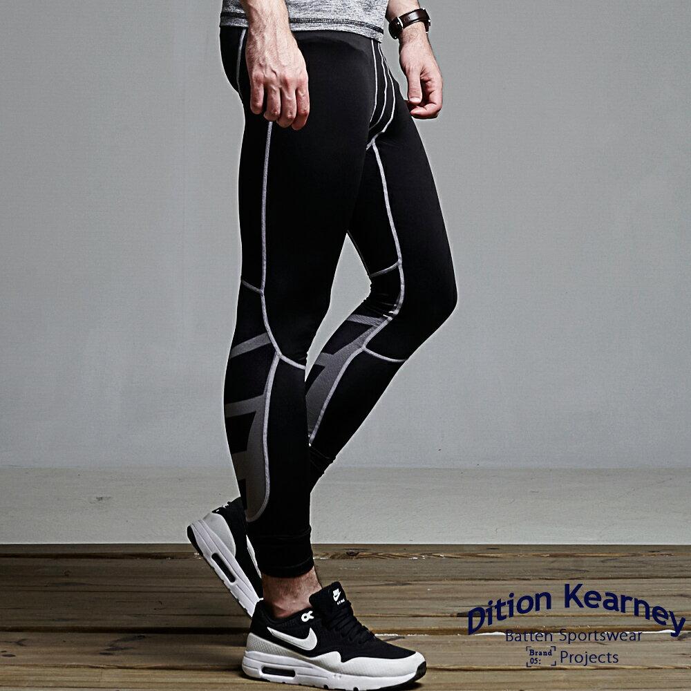 DITION 單車輕量內搭褲 V型螢光車線 低檔壓縮褲 1