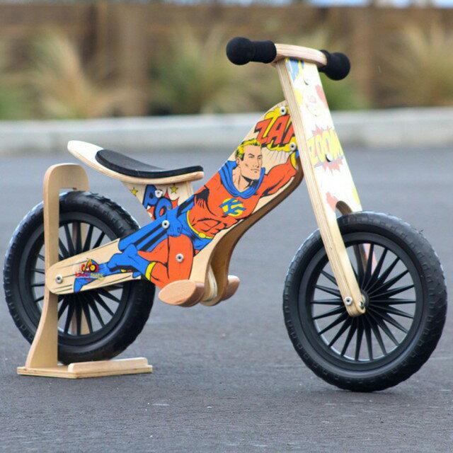 美國【Kinderfeets】木製平衡滑步車/教具車-英雄聯盟系列(超級英雄) 1