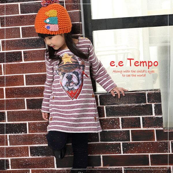 eetempo橫條狗 棉質上衣A11118^(  ^)