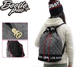女生 BEETLE STUSSY BUCKET BACKPACK 黑白 黑灰 城市限定 豬鼻 水餃包 後背包 234032