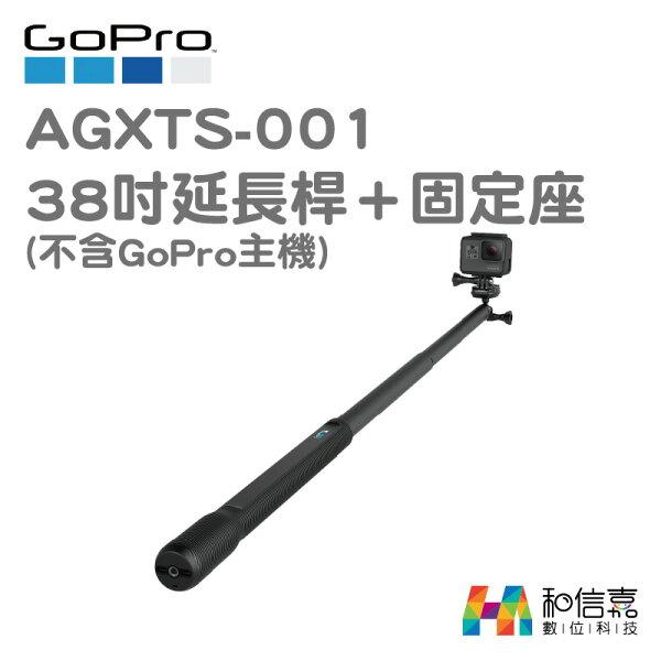 GoPro原廠配件【和信嘉】AGXTS-00138吋延長桿與固定座97cm台閔公司貨