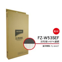 【金曲音響】SHARP夏普 FZ-W53SEF 清淨機濾網