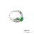 大東山珠寶 簍空蝶漾 天然緬甸正陽綠A貨翡翠 頂級真鑽18K白金戒 3