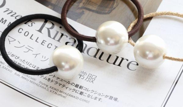 韓國製珍珠髮束髮圈小香珍珠單顆052256海渡