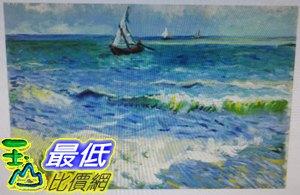 [COSCO代購如果售完謹致歉意]W120496梵谷海濱的漁船松木框油畫30x45CM