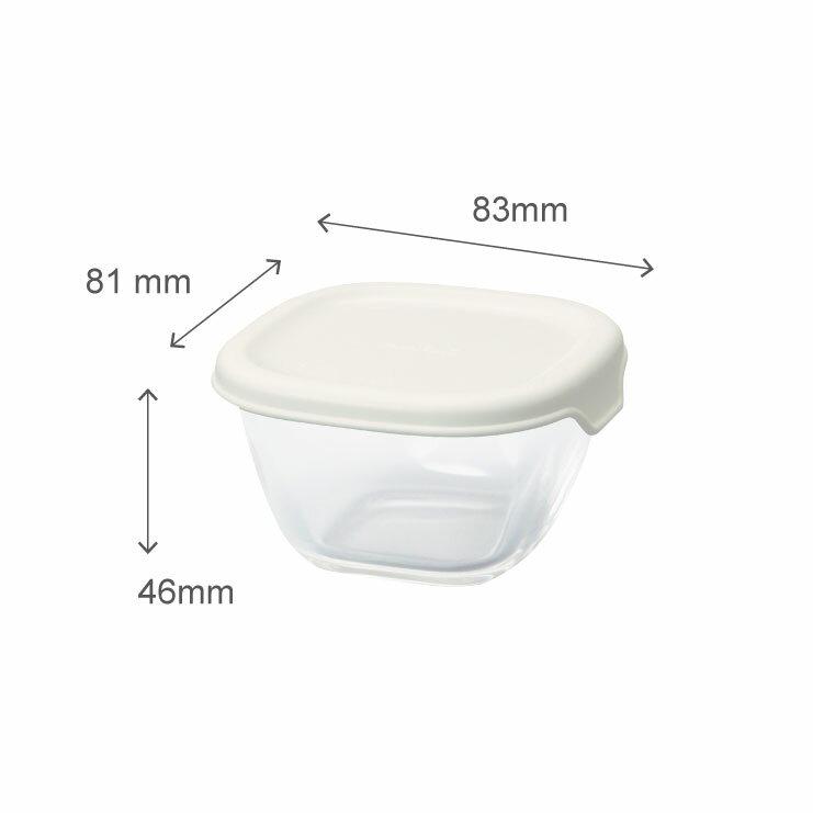 HARIO 方形玻璃保鮮盒4件組/白色/MKK-2012-OW 5