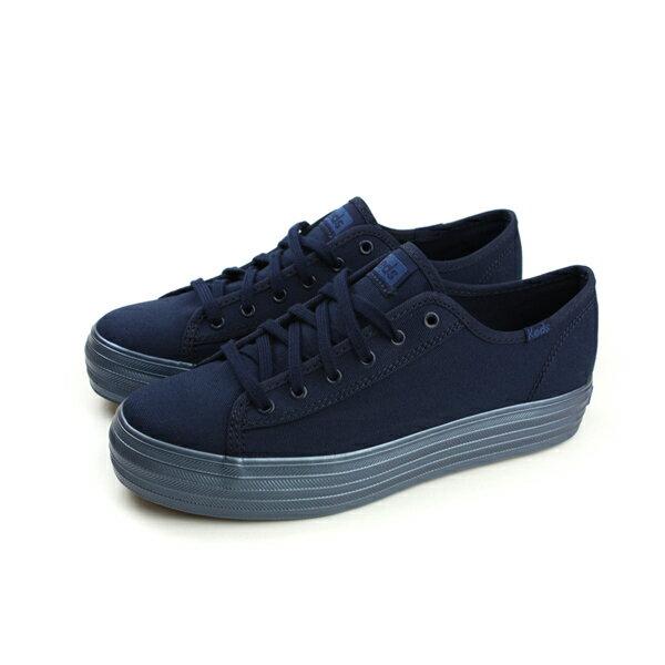 HUMAN PEACE:KedsTRIPLEKICKSHIMMERNAVY布鞋休閒厚底深藍色女鞋9173W132260no256