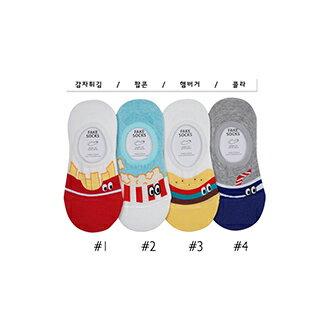 韓國美式造型隱形襪-多款任選 (SOCK-060-F)