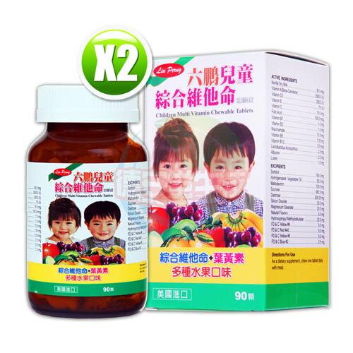 六鵬兒童綜合維他命咀嚼錠(90錠/盒)x2 (補貨中)