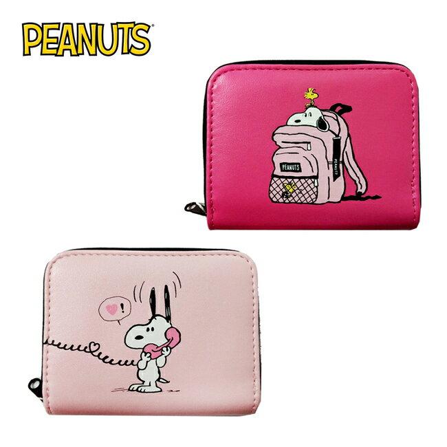 【日本正版】史努比 皮質 零錢包 卡片包 Snoopy PEANUTS