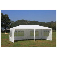 Mcombo 10'x20' White Canopy Party Outdoor Gazebo Wedding Tent 4 Removable Walls