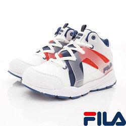 FILA頂級童鞋款 韓系復古鞋款 3-J811S-123白藍紅(中大童段)