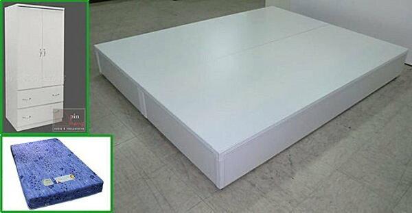 【尚品傢俱】*特別優惠*SP-01白色5尺床組+2.3尺衣櫃+5尺床墊+書桌+白皮椅
