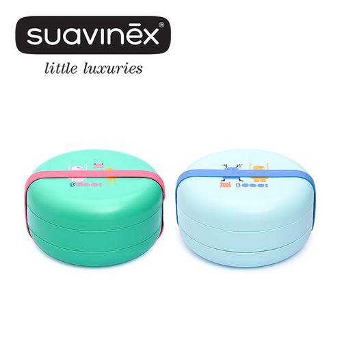 西班牙Suavinex小怪獸四層便當盒(藍綠)★衛立兒生活館★
