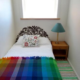 Attlee設計師-創意無痕壁貼.單人床頭板/床架 壁貼HDWS-12