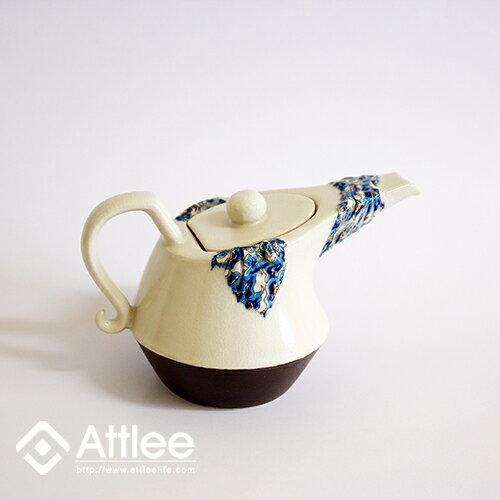 Attlee錦緞布長嘴造型茶壺/花茶組/創意飲品/下午茶/陶瓷茶具/茶壺