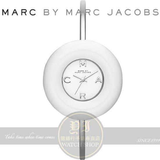 MARC BY MARC JACOBS國際 Donut 甜甜圈 手環腕錶~白 40mm M