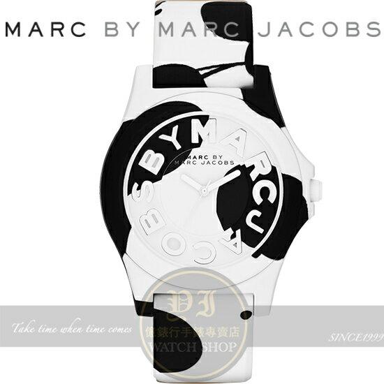MARC BY MARC JACOBS國際精品可愛乳牛矽膠腕錶-白/42mm MBM4026公司貨/禮物