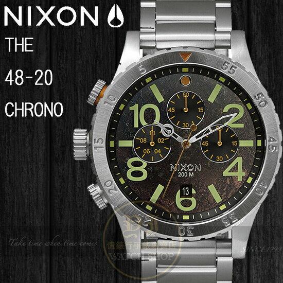 NIXON 實體店The 48-20 CHRONO型男腕錶/DARK COPPER A486-1956公司貨/極限運動