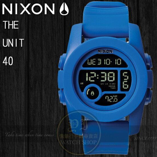 NIXON 實體店The Unit 40潮流玩味-COBALT A490-369公司貨/溫度/運動/極限