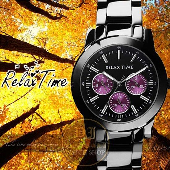 Relax Time關詩敏代言經典三眼錶款-紫/黑/42mm R0800-16-03X公司貨/MIT/原創設計